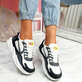Lorry Black Grey Chunky Sneakers