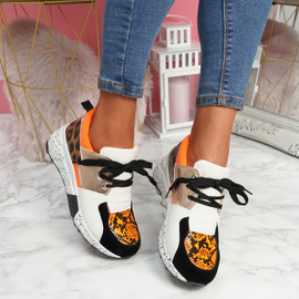 Konny Orange Chunky Trainers