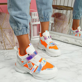 Kaya Orange Chunky Sneakers