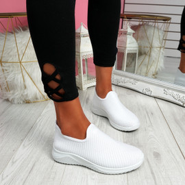Lonnia White Slip On Sneakers