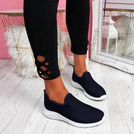 Lonnia Navy Slip On Sneakers