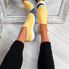 Lonnia Yellow Slip On Sneakers