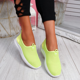 Onno Green Slip On Running Sneakers