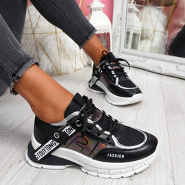 Keve Black Chunky Trainers