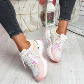 Leppy Pink Chunky Trainers
