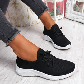 Loky Black Running Trainers