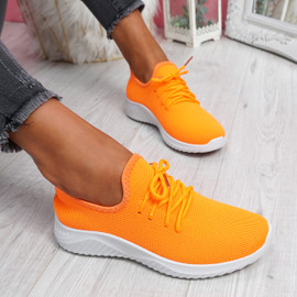 Loky Fluorescent Orange Running Trainers