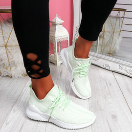 Lammy Green Mesh Sneakers