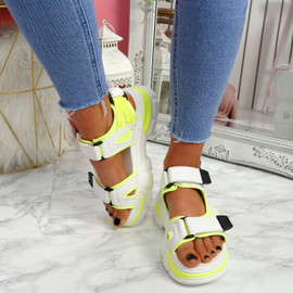 Juppo Green Chunky Sandals