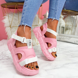 Salla Pink Chunky Sandals