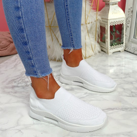 Ello White Slip On Trainers