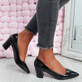 Nya Black Block Heel Pumps