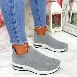 Neya Grey Slip On Trainers