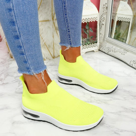 Neya Green Slip On Trainers