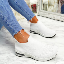 Neya White Slip On Trainers