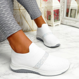 Goppa White Studded Sneakers