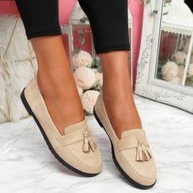 Latta Beige Flat Ballerinas
