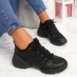 Koga Black Chunky Sneakers