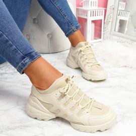 Koga Beige Chunky Sneakers