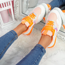 Geppo Orange Chunky Trainers