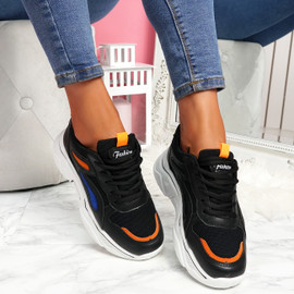Nimme Black Chunky Sneakers