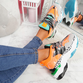 Logy Orange Chunky Sneakers