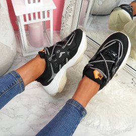 Fony Black Chunky Trainers