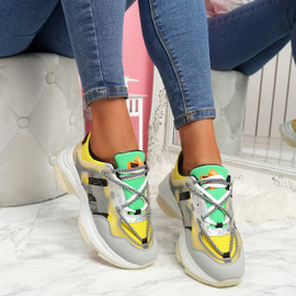 Fony Yellow Chunky Trainers