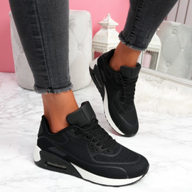Geppy Black White Fashion Trainers