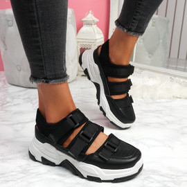 Zyga Black Chunky Trainers