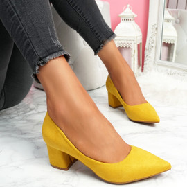 Offie Yellow Court Pumps