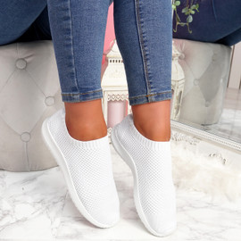 Fubba White Mesh Trainers