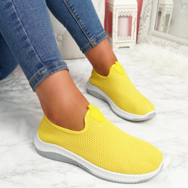 Nugga Yellow Slip On Trainers