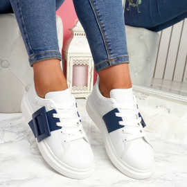 Kiva Blue Buckle Trainers