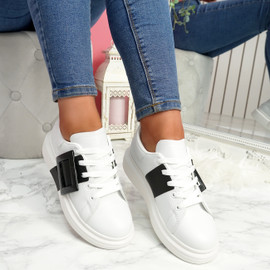 Kiva Black Buckle Trainers