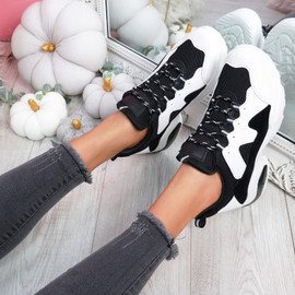 Juffy Black Chunky Trainers