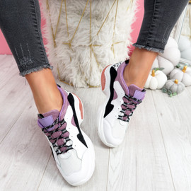 Juffy Pink Chunky Trainers