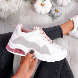 Juffy White Chunky Trainers