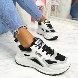 Viza Black Chunky Trainers