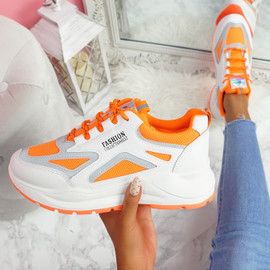 Viza Orange Chunky Trainers