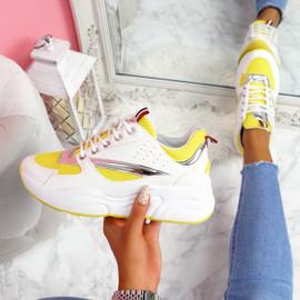 Kitta Yellow Chunky Sneakers