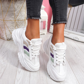 Loppa White Chunky Sneakers
