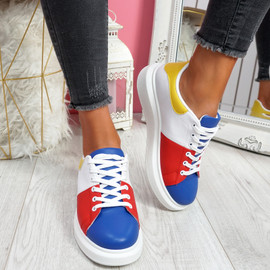 Jumma Blue Lace Up Trainers
