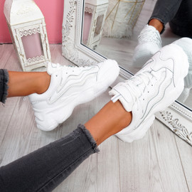 Evin White Chunky Trainers