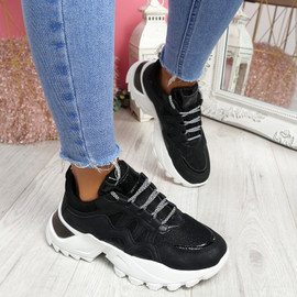 Vory Black Chunky Sneakers