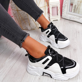 Vedya Black White Chunky Trainers