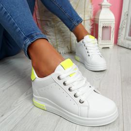 Liva Fluorescent Yellow Wedge Trainers
