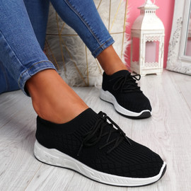 Mizze Black Knit Sneakers