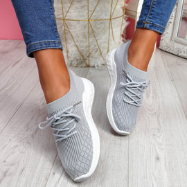 Mizze Grey Knit Sneakers