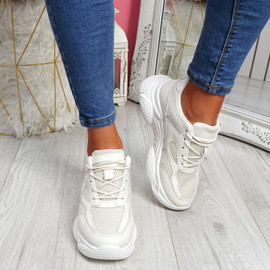 Malle Beige Sport Chunky Trainers